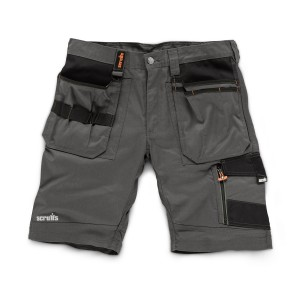 Scruffs Trade Work Shorts Slate Grey with Multiple Pockets (Sizes: 28in-40in Waist)