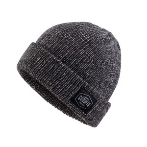 Scruffs Vintage Beanie Hat Thinsulate Lined Grey/Black Winter Hat T53062