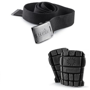 Scruffs Knee Pad & Graphite Grey Clip Belt Kit - Work Trouser Accessory Pack
