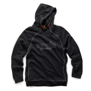 Scruffs Trade Work Hoodie Black Men's Hooded Jumper (Sizes S-XXL)
