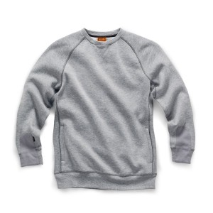 Scruffs Trade Work Sweatshirt Pullover Jumper Grey (Sizes S-XXL)