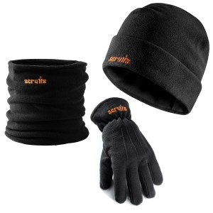 Scruffs Winter Work Essential Accessory Pack with Hat, Neck Warmer & Gloves