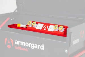 Armorgard TuffBank TBC4 PowerShelf Secure Power Tool & Device Charging Unit