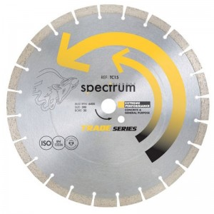 Spectrum TC15 Trade Concrete/ General Purpose Diamond Blade (Sizes 115mm - 300mm)