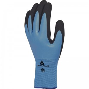 Delta Plus THRYM VV736 Safety Gloves Blue Fully Coated Latex & Waterproof Lined (Various Sizes)
