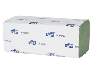 Tork Universal Paper Hand Towels Green,1-Ply, Zig Zag Fold  (150 Towels, Case of 20)