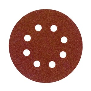 Toolpak 8 Hole Sanding Discs 125mm Pack Of 10 (Various Grits)