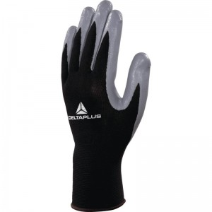 Delta Plus VE712 Safety Gloves Black / Grey (Various Sizes) Polyester
