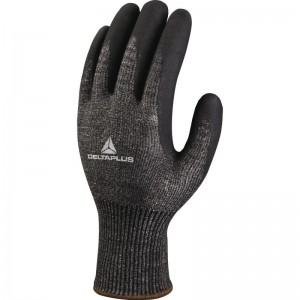 Delta Plus VECUT53 Safety Gloves Black (Various Sizes) High Performance Nitrile & Anti-Cut