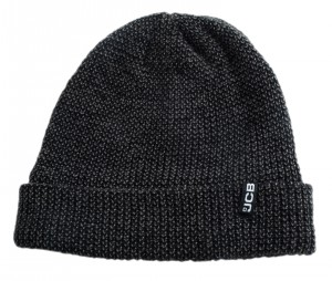 JCB Beanie Hat Microfleece Lined Black/Grey