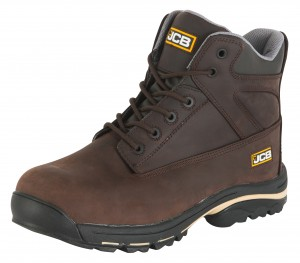 JCB WORKMAX Safety Work Boots Brown (Sizes 6-13)