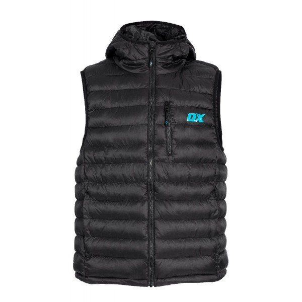 Mens XXL Blue Padded Bodywarmer 14 Pocket Heavy Duty Jacket