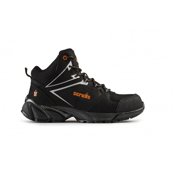 Scruffs Victory Safety Work Hiker Boots Black Sizes 7 12