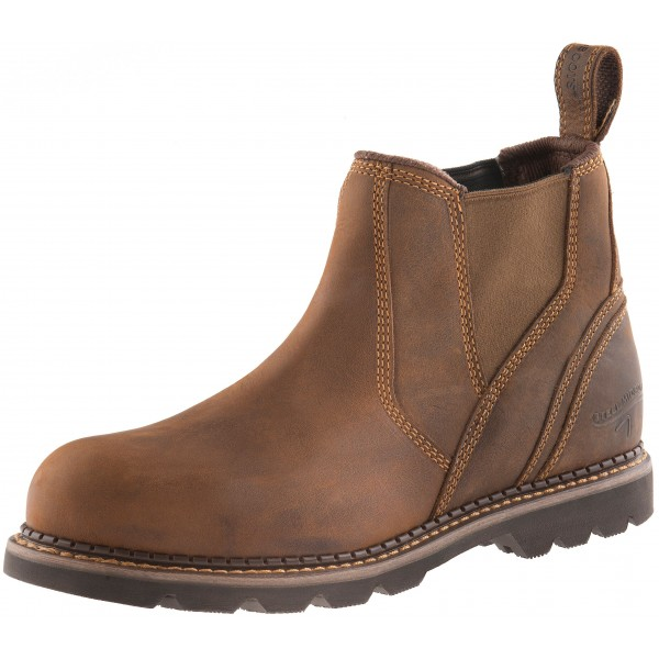 Men/'s Work Shoes Buckler B1400 Non Safety Dealer Boots Brown Sizes 6-13