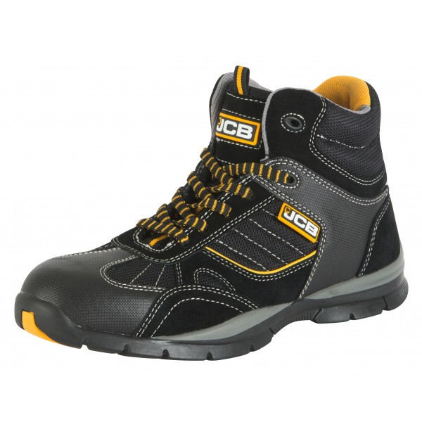 Jcb Rock Sporty Safety Hiker Boots Black Sizes 6 13