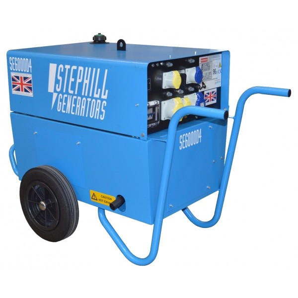 Stephill SE6000D4 Silenced Diesel Generator 4 8kW/6 0kVA - With Trolley Kit