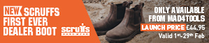 New Scruffs Raw Dealer Boot - FREE Del, FREE Socks at Low Launch Prices
