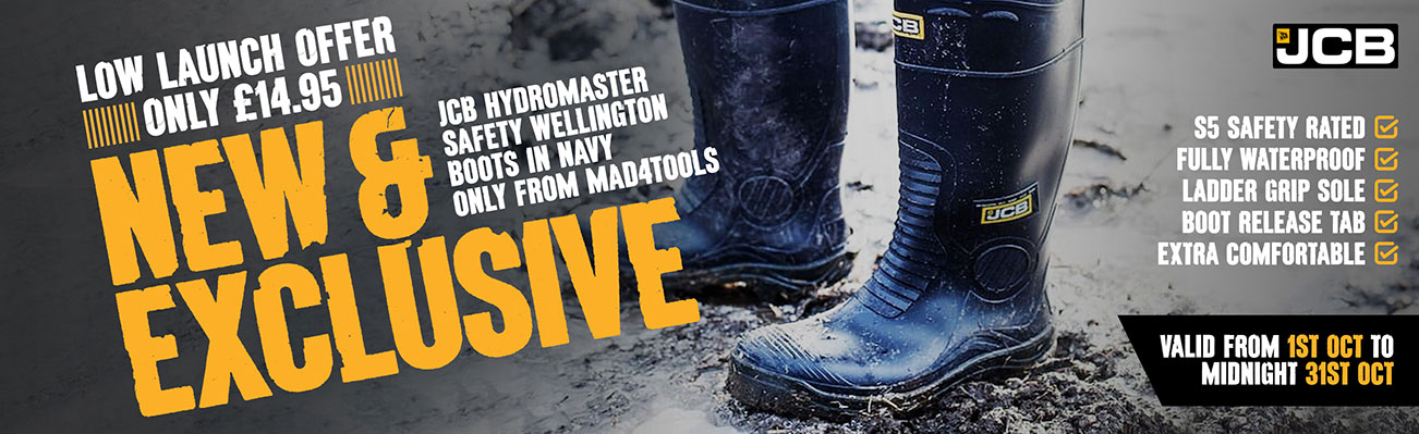 Launch Offer On New JCB Hydromaster Boots In Navy