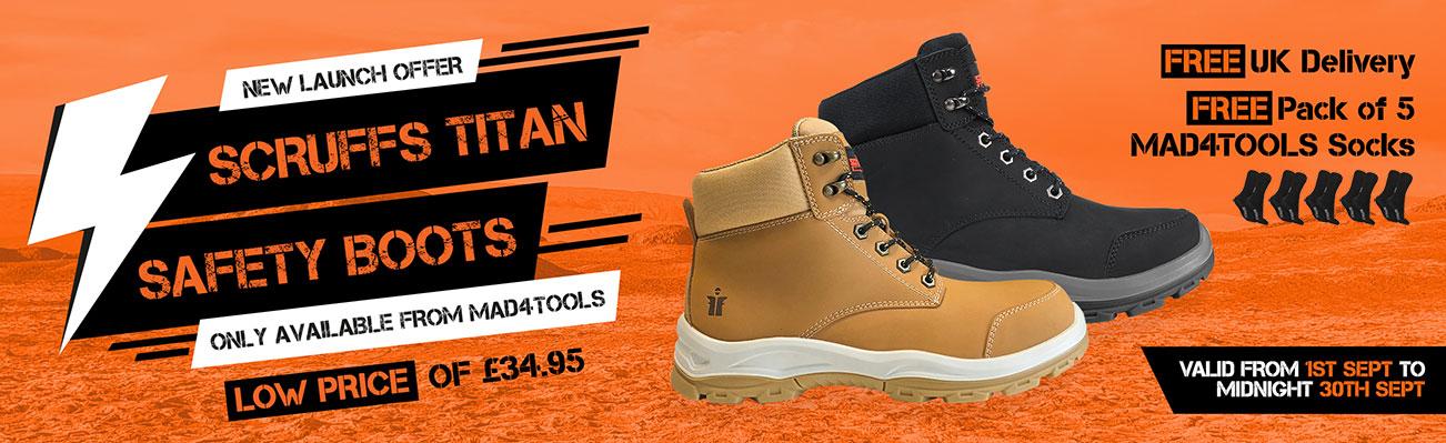 Scruffs Titan Safety Boots Launch Offer