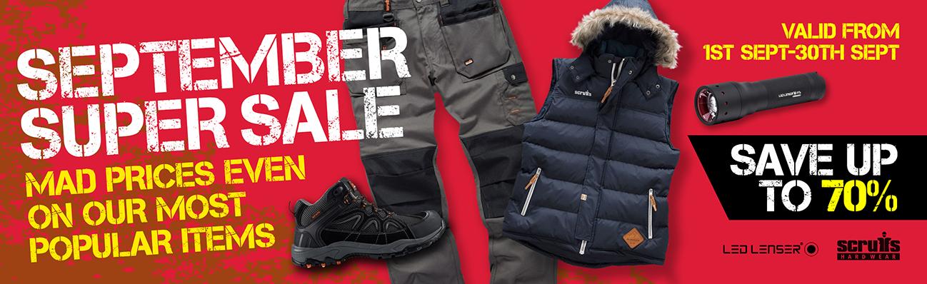 September Super Sale - Save Up To 70%