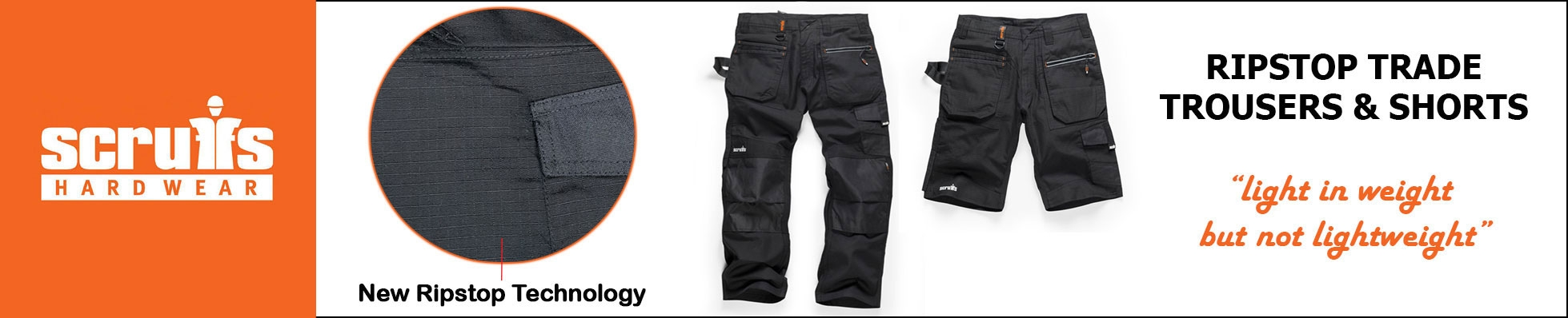 Scruffs Ripstop Trade Work Trousers and Shorts