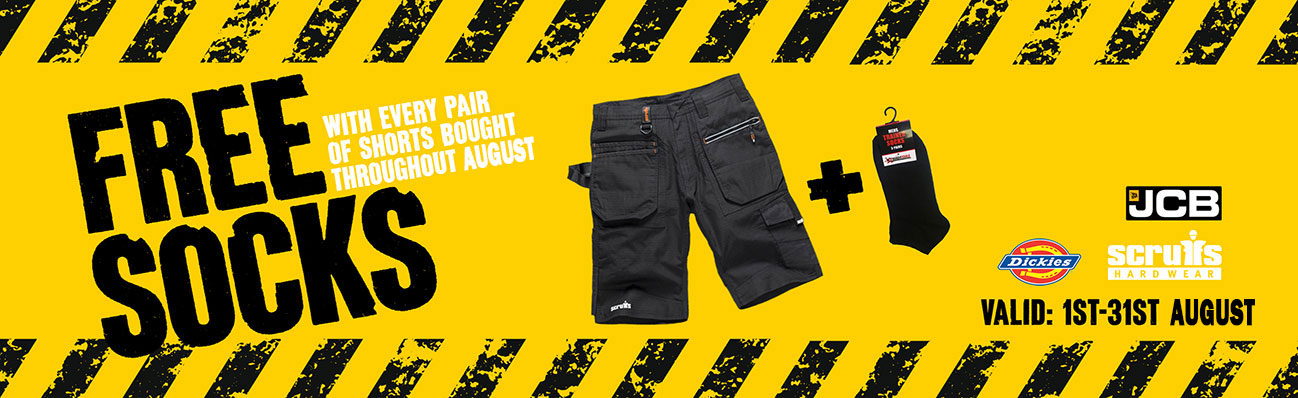 Free Trainer Socks With Any Shorts In August