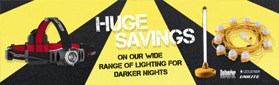 Huge Savings On Bright Lighting - Get Your Lights Ready For The Darker Nights