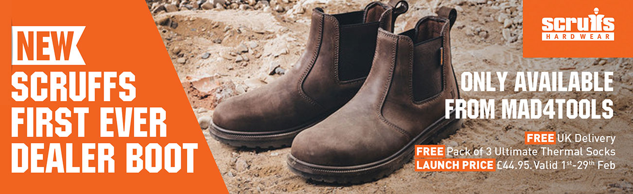 New Scruffs Raw Dealer Boot - FREE Del, FREE Socks and Low Launch Price