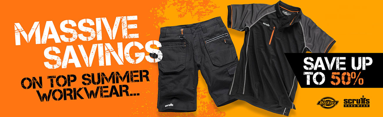 Massive Savings On Top Summer Workwear - Save Up To 50%